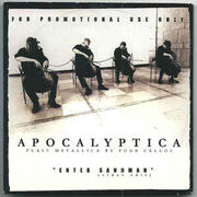 APOCALYPTICA: Enter Sandman (VIDEO edit) PROMO CD-single
