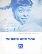 Washington, Dinah: Where are You nuottivihko / Sheet Music