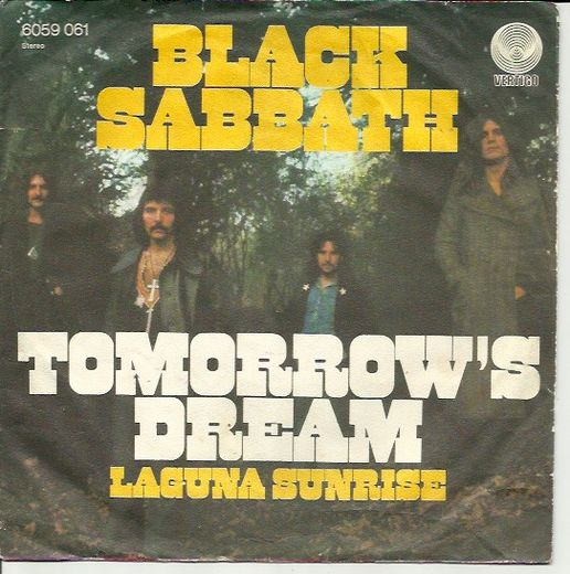 Black Sabbath: Tomorrow's Dream / Laguna Sunrise 7""