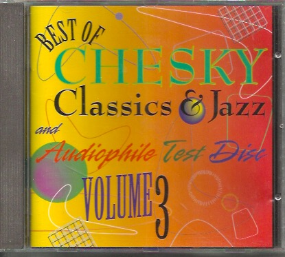 V/A: Best of Chesky Classics &  Jazz and Audiophile Test disc vol.3 CD