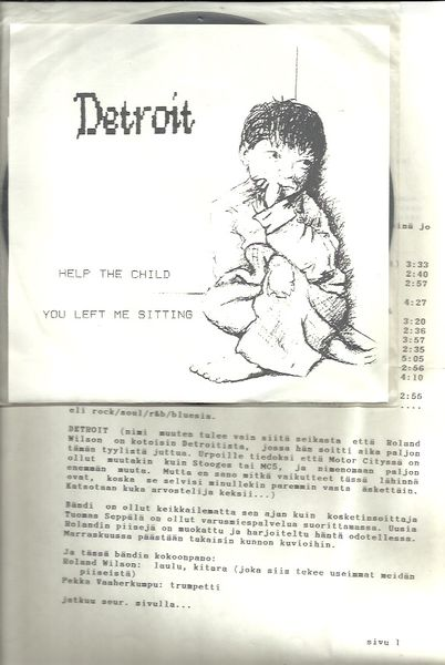 "Detroit: Help The Child / You Left Me Sitting 7"", -PROMOLIITEx2"