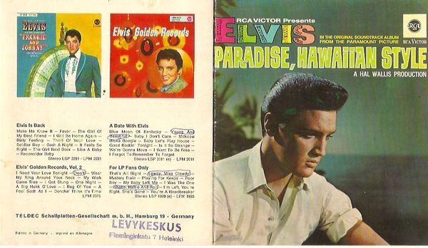 Elvis,  levyluettelo / record catalogue 1966