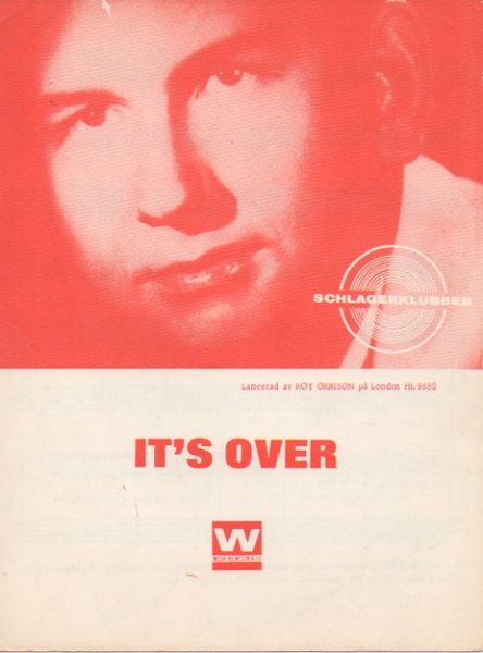Roy Orbison: It's Over Nuottivihko / Sheet Music